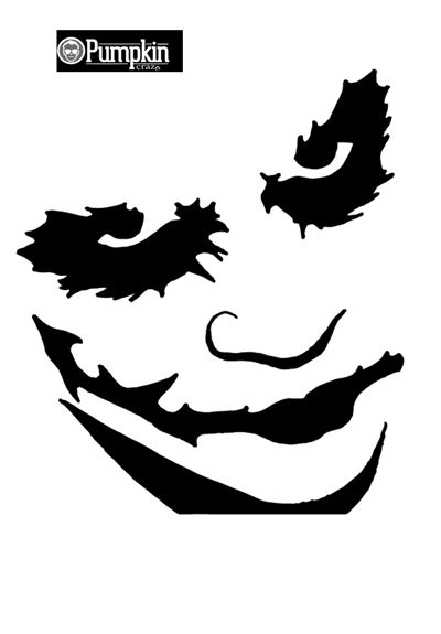 Easy Joker Stencils Google Search Joker Pumpkin Joker