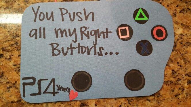 4 year anniversary DIY card for gamer boyfriend:)