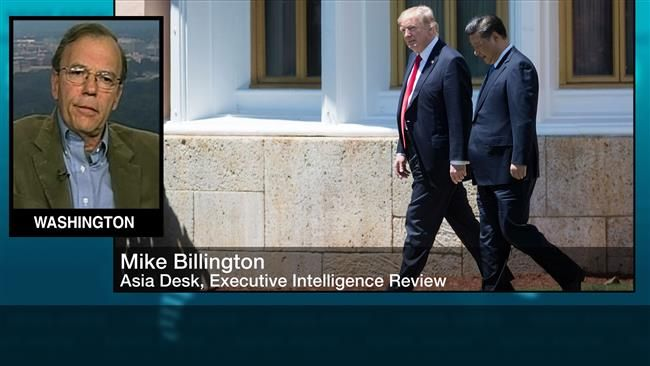 """""""You know there is a total war within the administration,"""" said Mike Billington, an editor with the Executive Intelligence Review.  US Secretary of State Rex Tillerson has """"completely refuted all of the garbage coming out of the press about Trump is now mobilizing against Russia, is mobilizing against China, and Tillerson just completely contradicted it,"""" Billington told Press TV on Wednesday.  """"And on China, he said this is not about trade, but he said we do not blame China for the North…"""