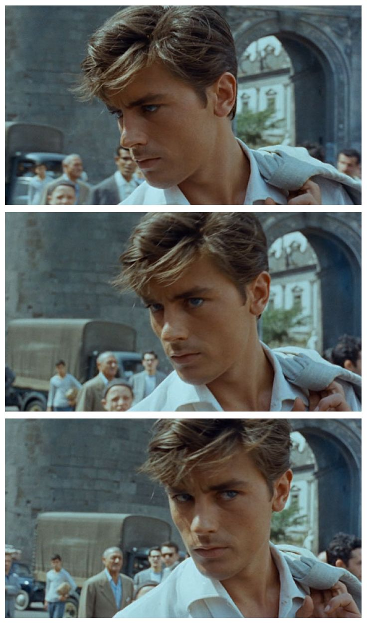 "fab  ""free"" sequence film, of young Alain Delon in Naples, in ""Plein Soleil"", 1960, by René Clément"