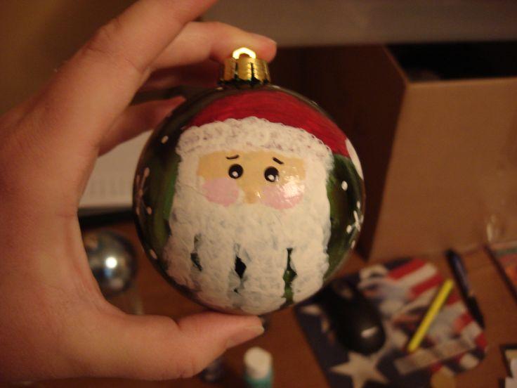 Handprint Santa ornament:)  MY ORNAMENT for the tree next year CES!!!