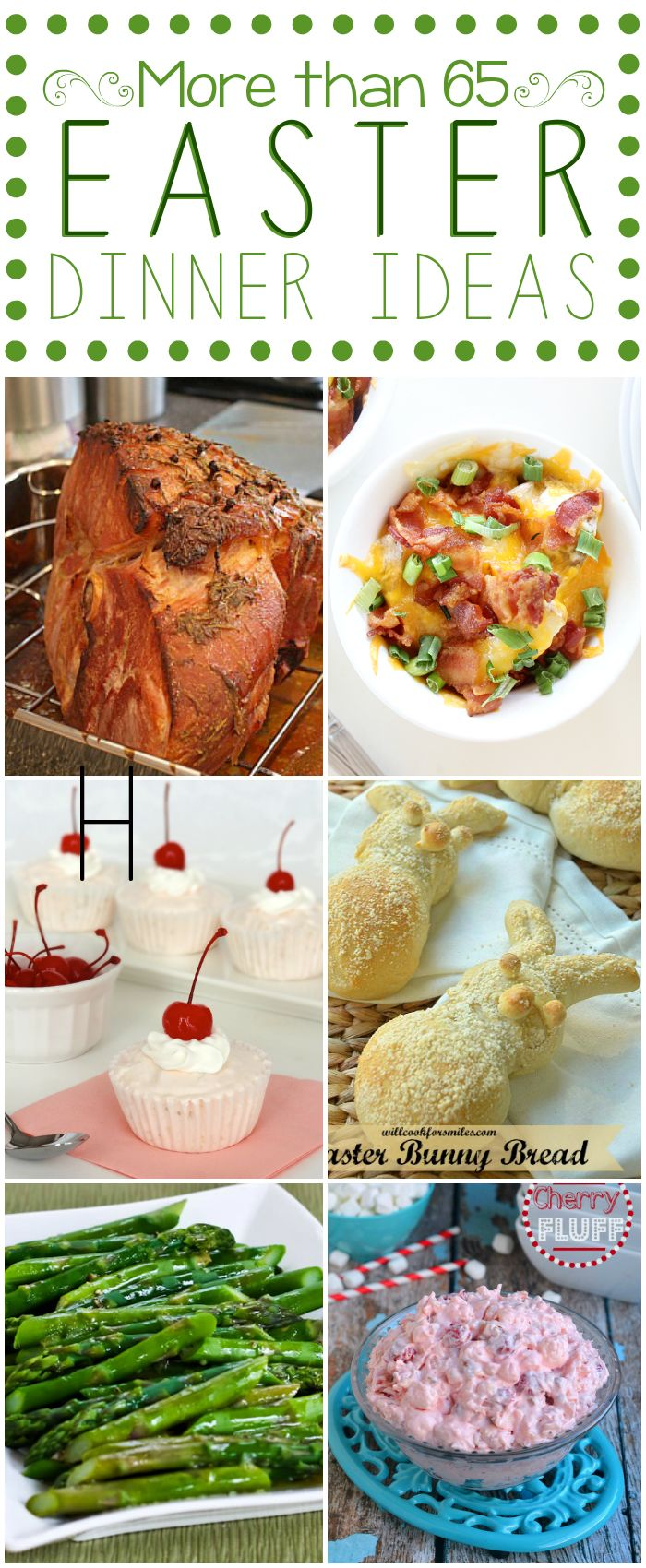 Easter Dinner Ideas {Round-Up} - more than 65 ideas perfect for your Easter table! #easter #dinner #round-up