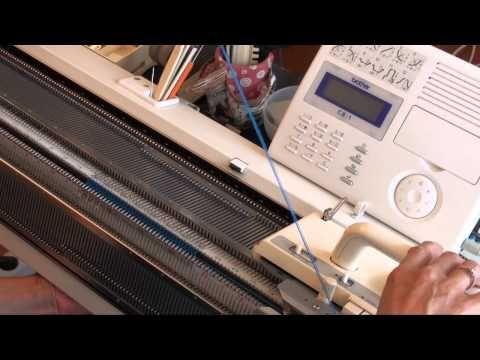 Видео уроки машинного вязания. Как связать ВЕЛЛЕ, РЕПС или РЕПС с разбором игл. Двухфонтурное вязание на машине