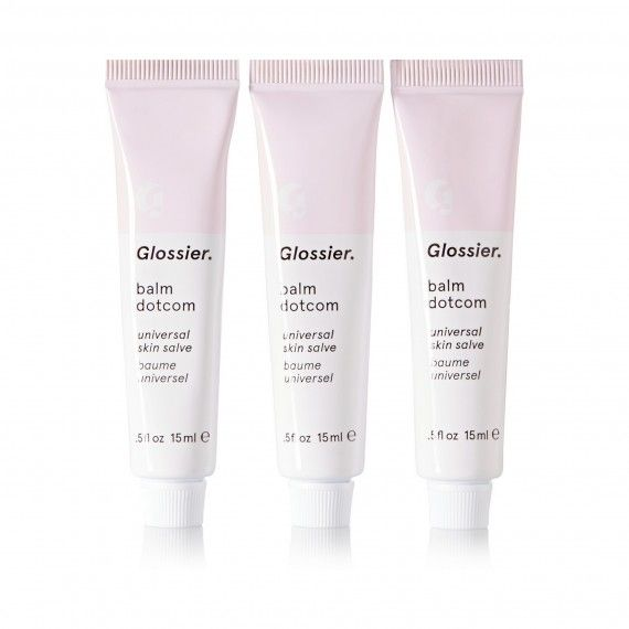 Soothe dry skin with Glossier Balm Dotcom.