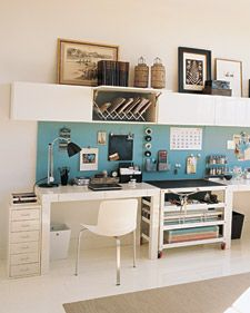 White with Pop of Teal