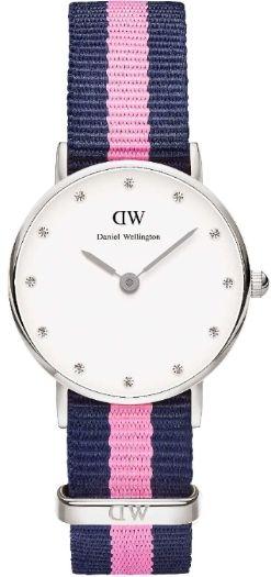 Daniel Wellington Ladies Classy Silver Nato Watch 0926DW