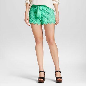 Women's Crochet Shorts Mint - 3Hearts (Juniors')