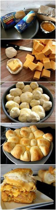 Pull apart grilled cheese. I think so! Hubby will go crazy for these