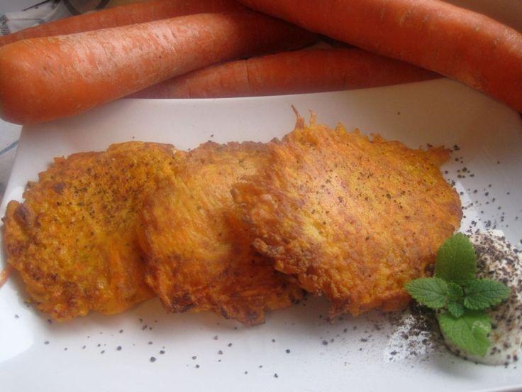 placki z marchewki