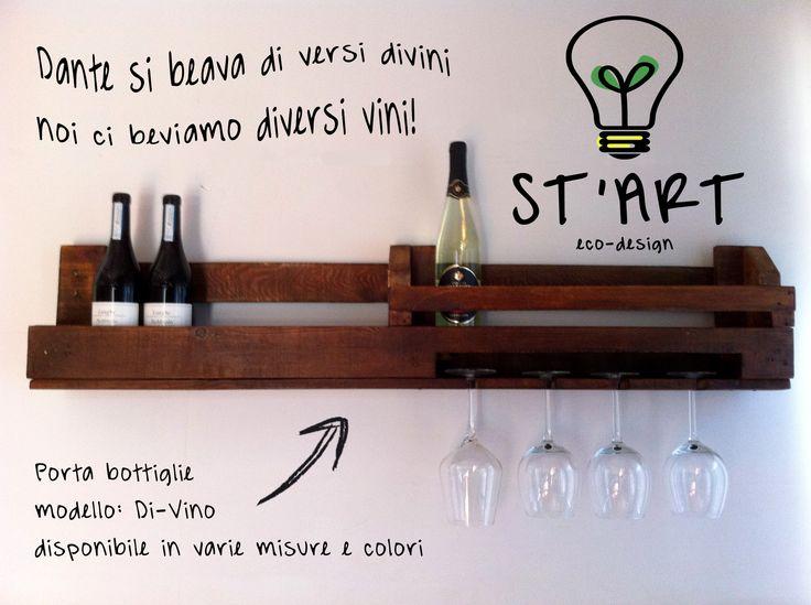 Porta Bottiglie di Vino riciclo pallet