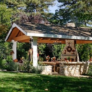 Amazing Country Style Outdoor Kitchen