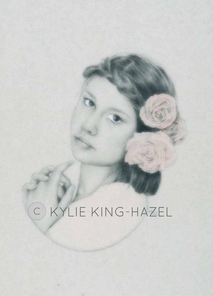 'Helena' 2012. Pastel and pencil.  www.kyliekinghazel.blogspot.com