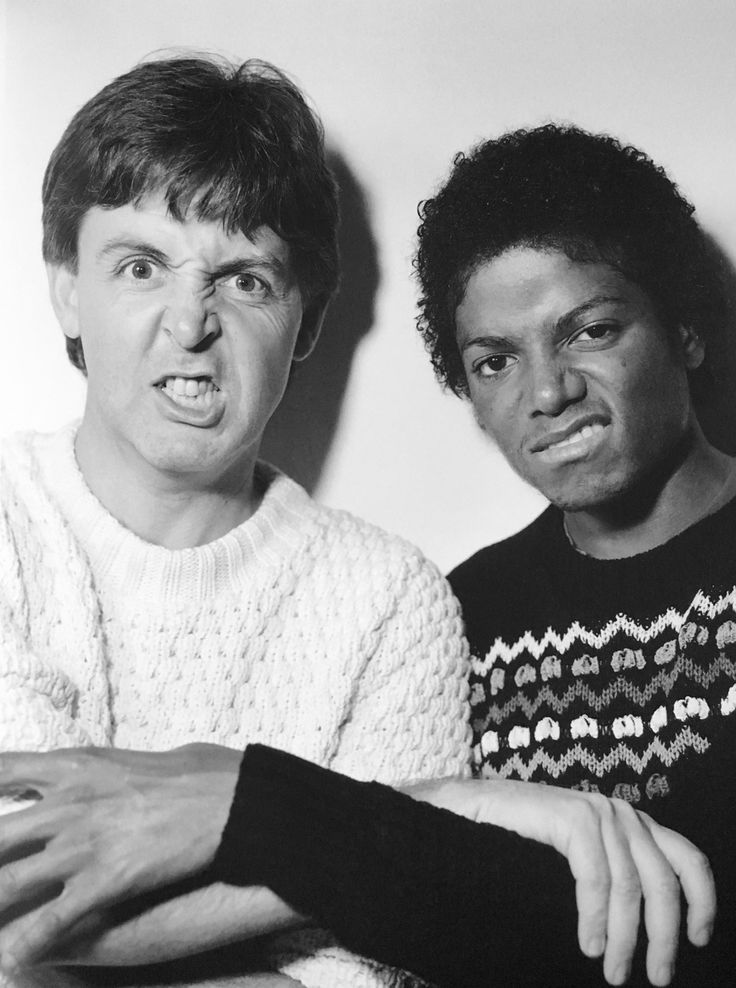 Paul McCartney and Michael Jackson, London 1983.