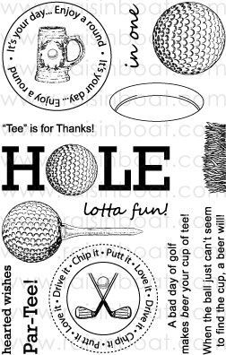 207 best Golf Cards, stamps, clipart images on Pinterest