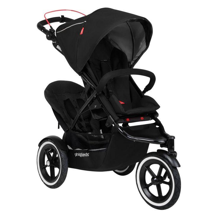 Phil & Teds Sport Inline Stroller - Black - PIT124