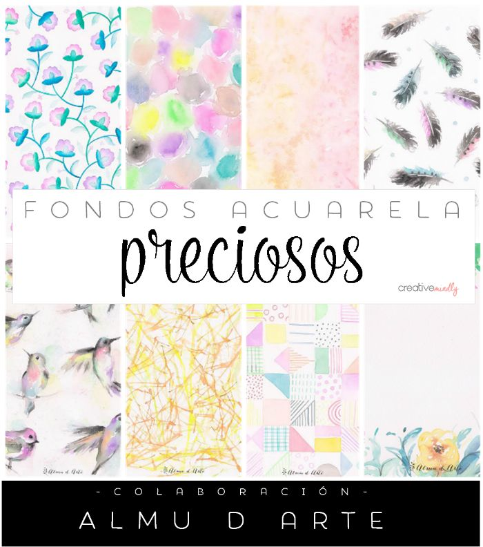 fondos acuarela watercolor gratis