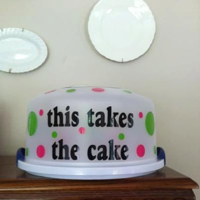 Dollar Store Cake Carrier