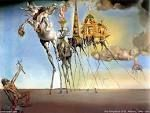 Title: The temptation of Saint Anthony Artist: Salvador Dali Location: Royal Museums of Fine Arts of Belgium Created: 1946 Media: Oil painting Period: Surrealism Genres: Christian art, Abstract art
