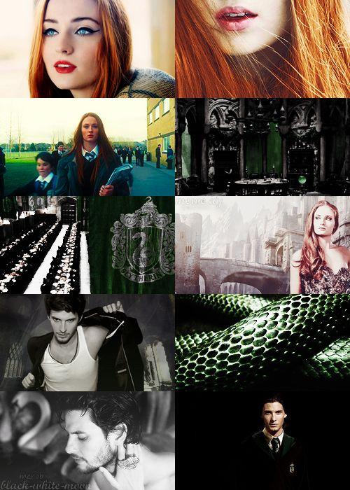 Sophie Turner & Ben Barnes Hogwarts Slytherin