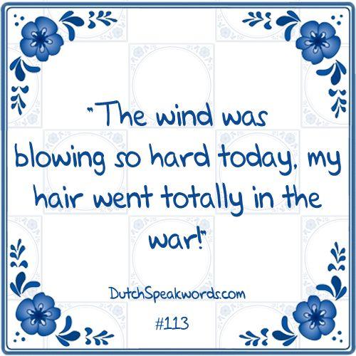 Het waaide vandaag zo hard dat mijn haar helemaal in de war zat.