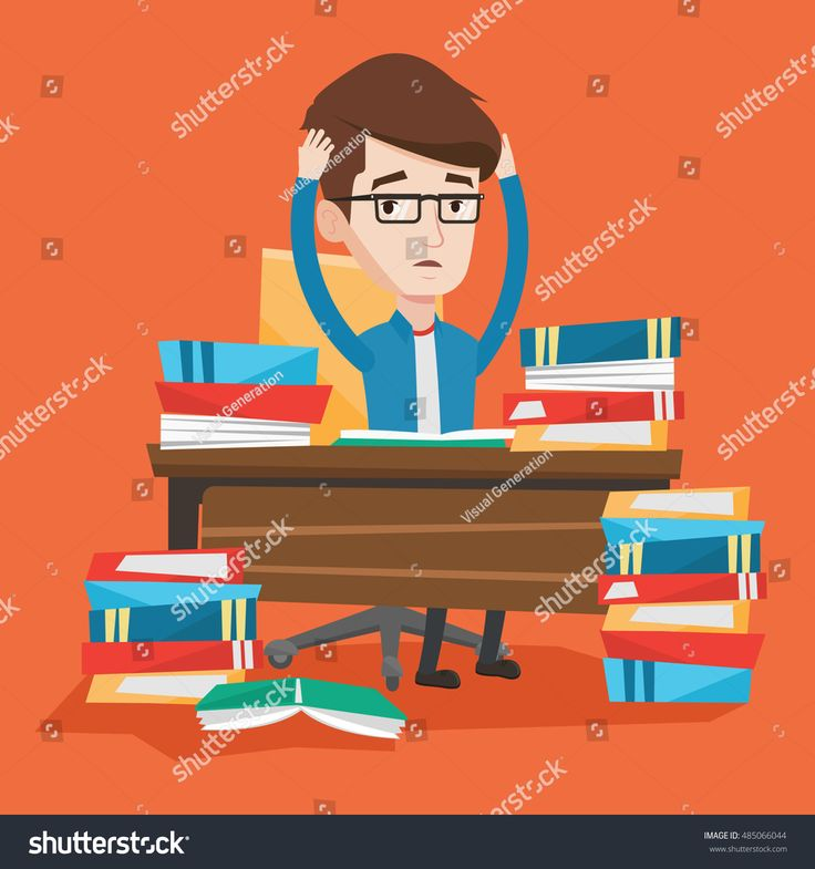 stock-vector-student-sitting-at-the-table-with-huge-piles-of-books-and-clutching-his-head-stressed-student-485066044.jpg 1500×1600 пикс