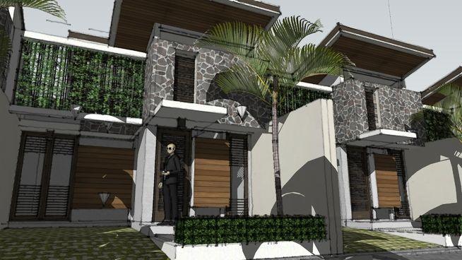 Desain Rumah Tropis Tipe NUANSA BENING by aguscwid - 3D Warehouse