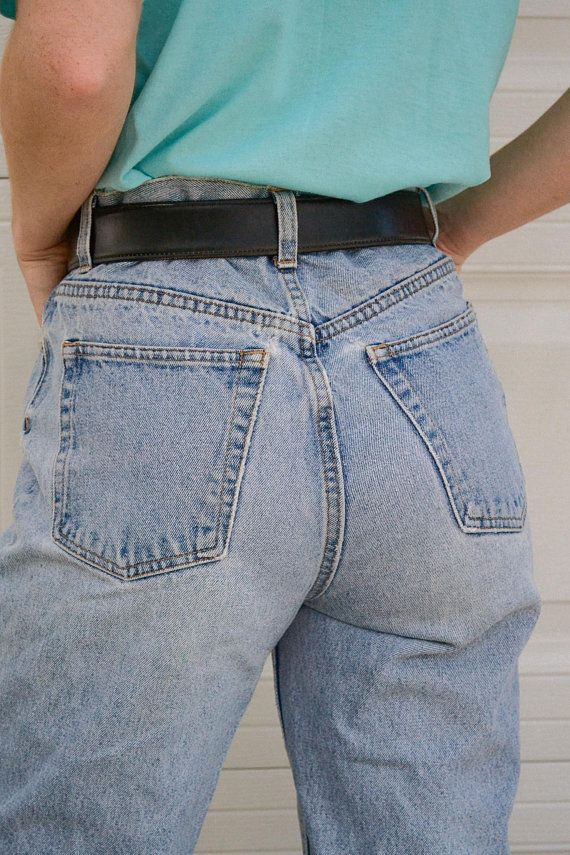 1970's Jordache High Waist Straight Leg Jeans, High Waist Jeans, Vintage Jeans, Vintage Mom Jeans, Western Style Jeans, Jordache Jeans