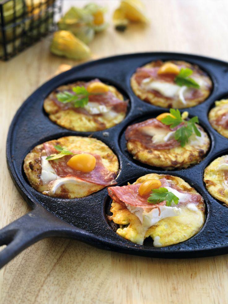Små smagfulde omeletter