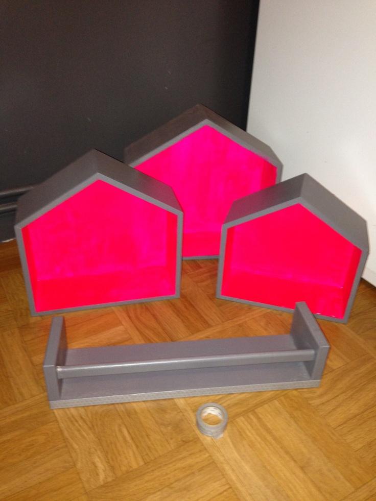 Nouvelle étagères colorées...