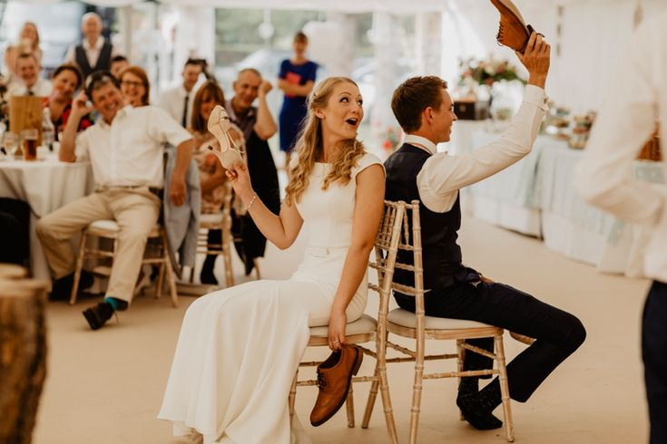 A game of Mr & Mrs for the newlyweds is guaranteed to get everyone laughing. Photo by Benjamin Stuart Photography #weddingphotography #mrandmrsgame #newlyweds #bestmanspeech #weddinggames #weddingentertainment