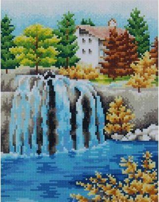 Набор для алмазной вышивки мозаикой Cristal F3017 Водопад