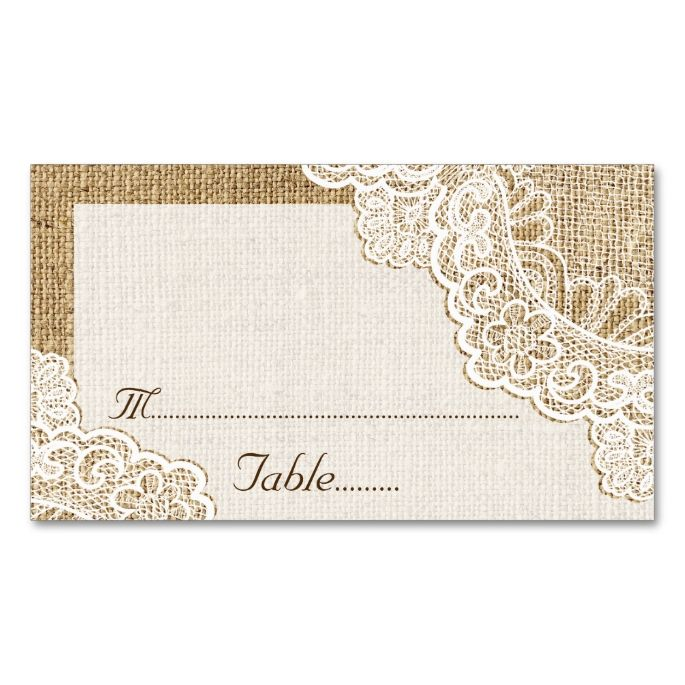 2192 best images about rustic business card templates on for Make your own wedding place cards