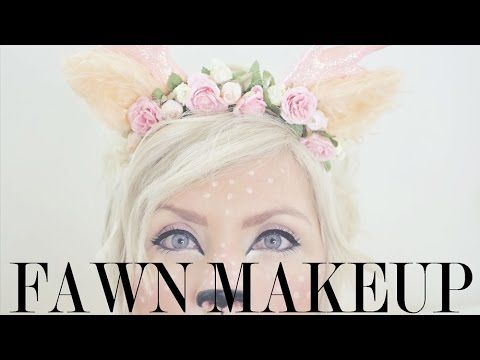 Easy Halloween Costume - Fawn Makeup Tutorial - for my satyr costume.