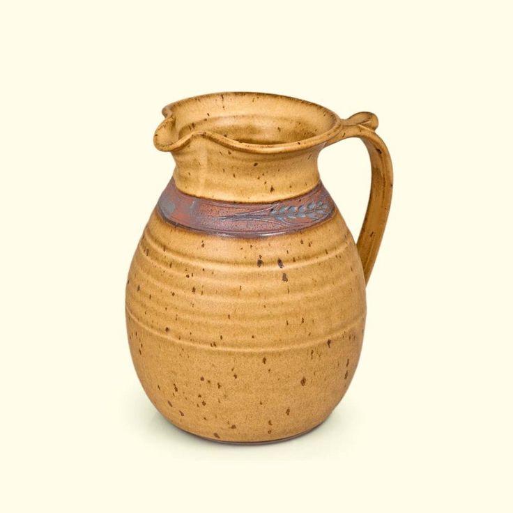 Mediterranean Pitcher | Mocha Wheat glaze