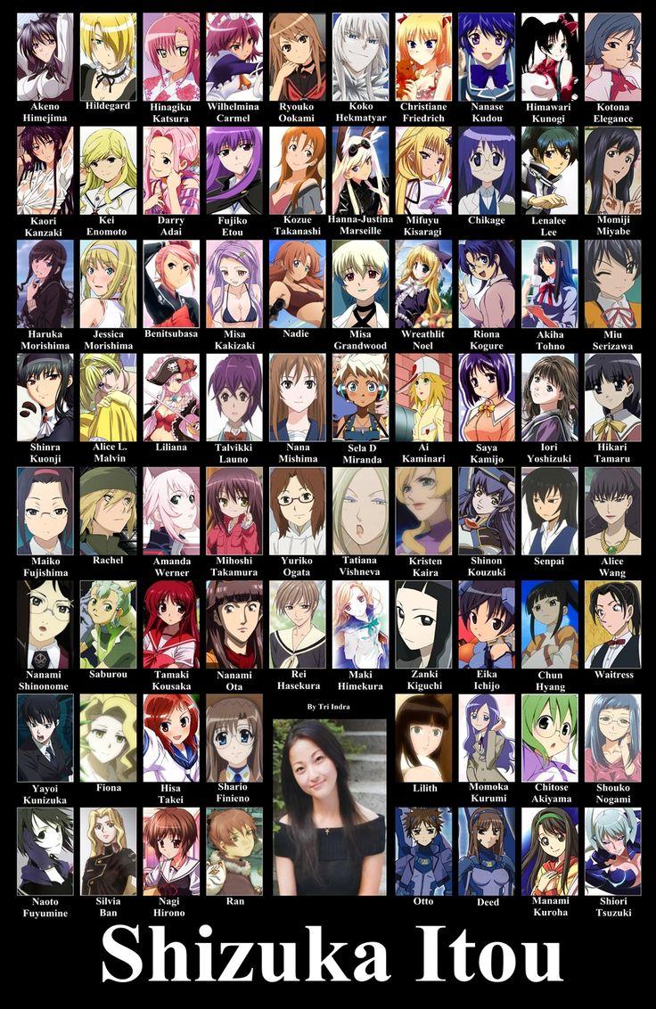 TYPE-MOON,Area no Kishi,Beelzebub,D.Gray-man,El Cazador de la Bruja,Hayate no Gotoku!,Highschool DxD,Ichiban Ushiro No Daimaou,Is,Jormungand,Kokoro Connect,Mahou Shoujo Lyrical Nanoha StrikerS,Maria-sama ga Miteru,Ookami-san to Shichinin no Nakama-tachi,Shakugan no Shana,To Aru Mahutsu no Index,xxxHOLiC,Amagami,Maji de Watashi ni Koi Shinasai!,Tsukihime, By Shizuka Itou