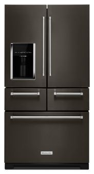 "Learn about features and specifications for the 25.8 Cu. Ft. 36"" Multi-Door Freestanding Refrigerator with Platinum Interior Design (KRMF706EBS)"