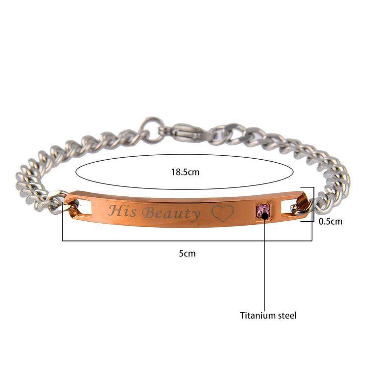 Titanium Steel Couple Love Chain Valentine's Day Bracelet Gift for Men Women
