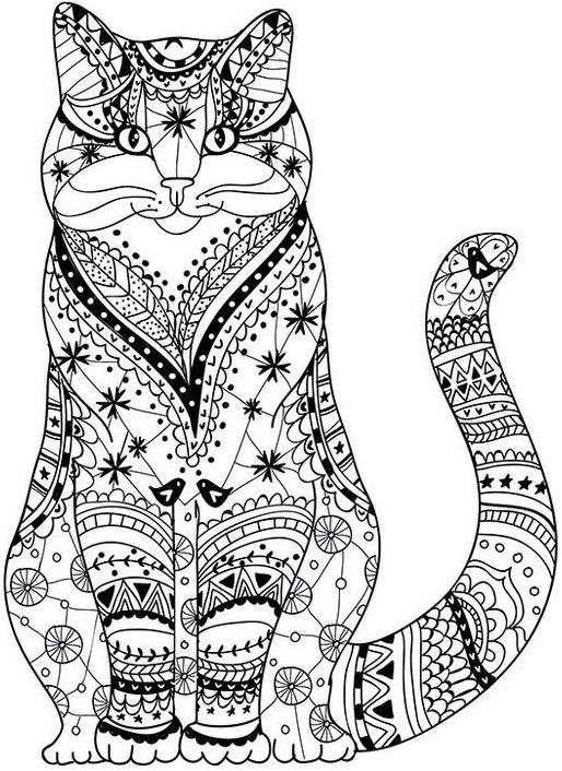 17 best Henna Animals images on Pinterest Kitty cats, Coloring - best of coloring pages black cat