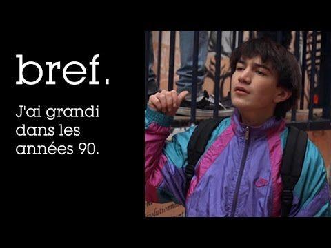 Bref. J'ai grandi dans les années 90. #vidéos #Bref #années_90