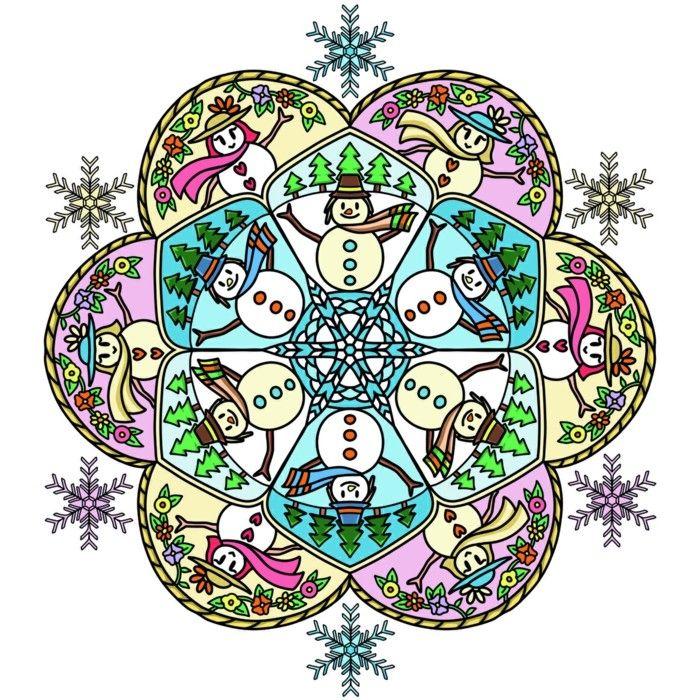 mandala zu weihnachtenausmalbilder als geschenkideen