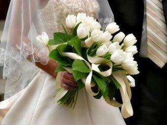 Bouquet Blanco de Tulipanes -- Fotografía: Perfect Wedding Day