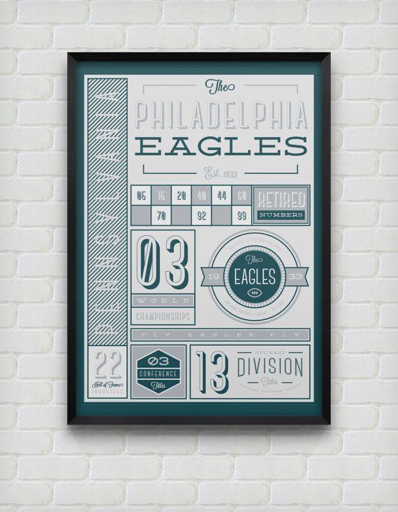 Philadelphia Eagles Stats Print by DesignsByEJB on Etsy, $18.00