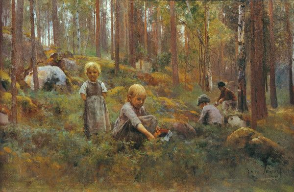 """In the Bilberry Forest"" (1888) by Eero Järnefelt, Tampere Art Museum"