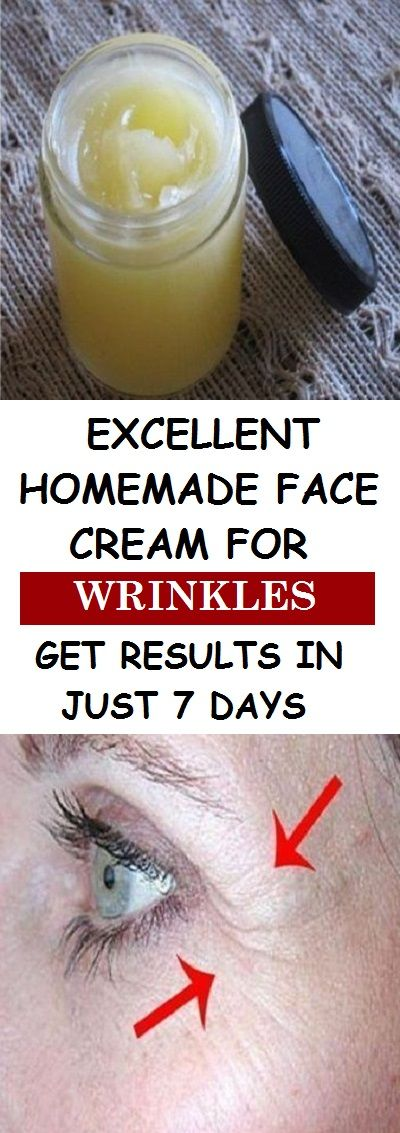 EXCELLENT HOMEMADE FACE CREAM FOR WRINKLES – GET RESULTS IN JUST 7 DAYS