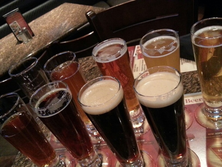 Sampling the goodness of beer, BJs Brewery - Los Angeles, CA