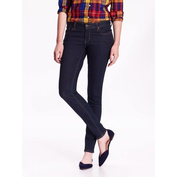 Old Navy Womens Low Rise Rockstar Skinny Jeans ($35) ❤ liked on Polyvore featuring jeans, white skinny jeans, super stretch skinny jeans, skinny fit jeans, old navy skinny jeans and white super skinny jeans