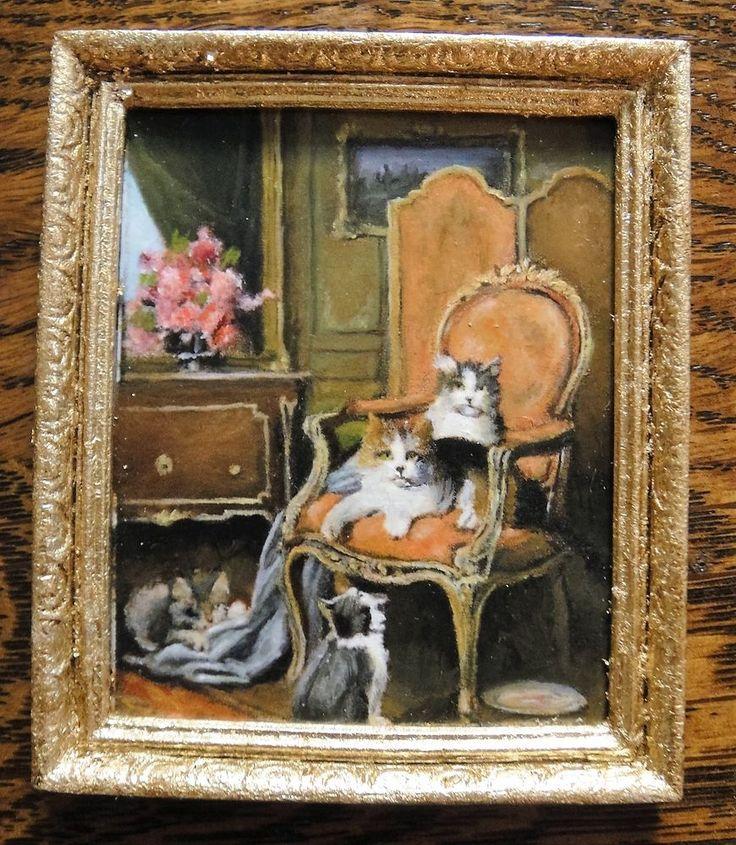 "IGMA Artist Barbara Wilson's Oil Painting, ""Untitled Kittens"" - Signed"