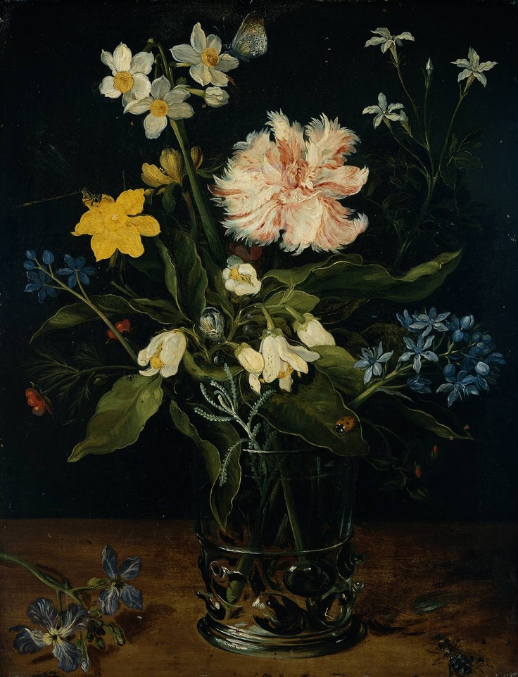 Title  Still Life with Flowers in a Glass    Year  c. 1578-25    Artist  Jan Brueghel I