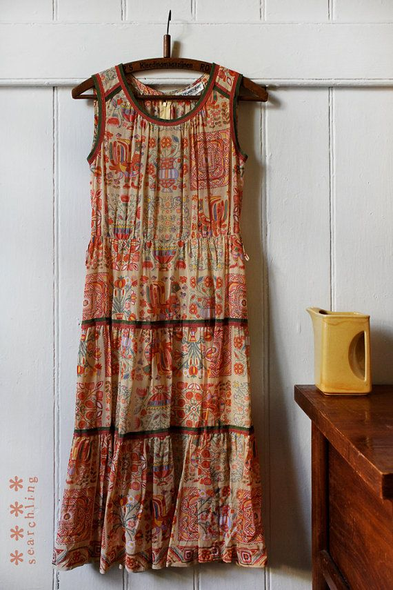 Vintage 1980's cute japanese long dress - Small to Medium