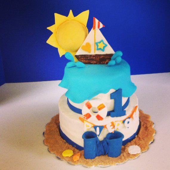 Fondant Sail boat Cake topper on Etsy, $9.00